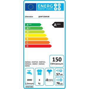 Consum masina de spalat Electrolux EWT1264ILW