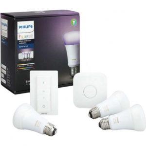 Pachet 3 becuri inteligente LED Philips Hue E27