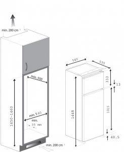 Dimensiuni mobilier Beko BDSA250K2S
